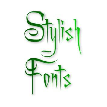 Stylish font3