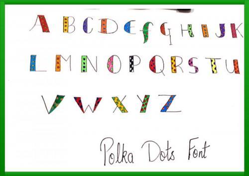 polka dots font